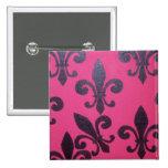 Flor de lis rosada pin