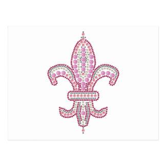 Flor de lis rosada postales