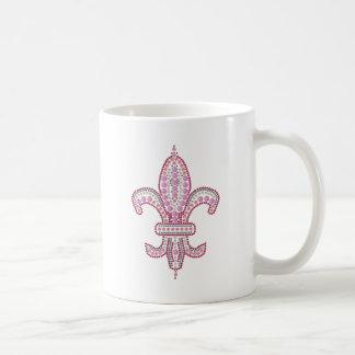 Flor de lis rosada taza clásica