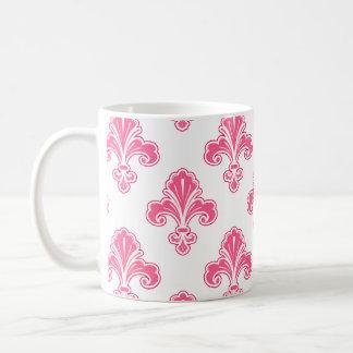 Flor de lis rosado coralino y blanco