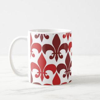 Flor de lis taza básica blanca