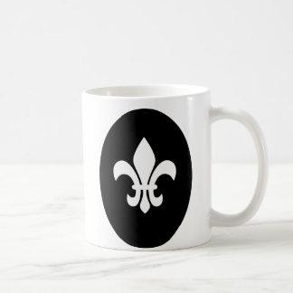 Flor de lis tazas de café