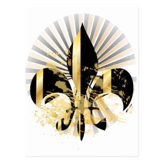 Flor de lis, texto adaptable tarjetas postales