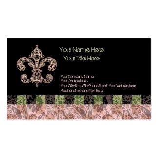 Flor de lis tribal del vudú tarjetas de visita