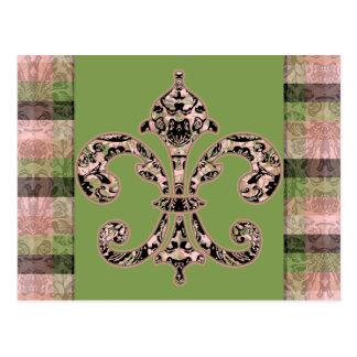Flor de lis tribal del vudú postales
