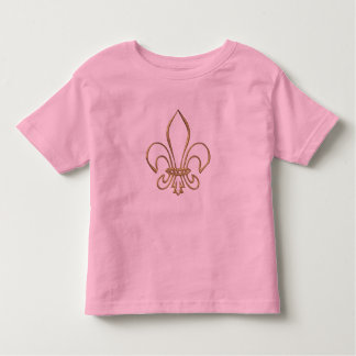 "Flor de lis ""tridimensional"" de oro tshirt"
