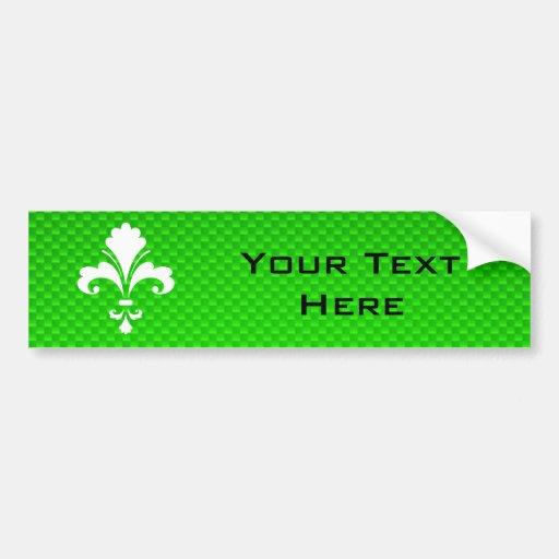 Flor de lis verde etiqueta de parachoque