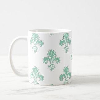 Flor de lis verde de Seafoam y blanco