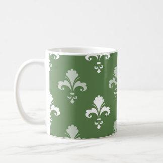 Flor de lis verde y blanca