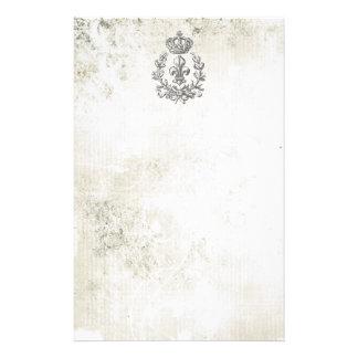 Flor de lis y Corona-libreta del vintage Papeleria De Diseño