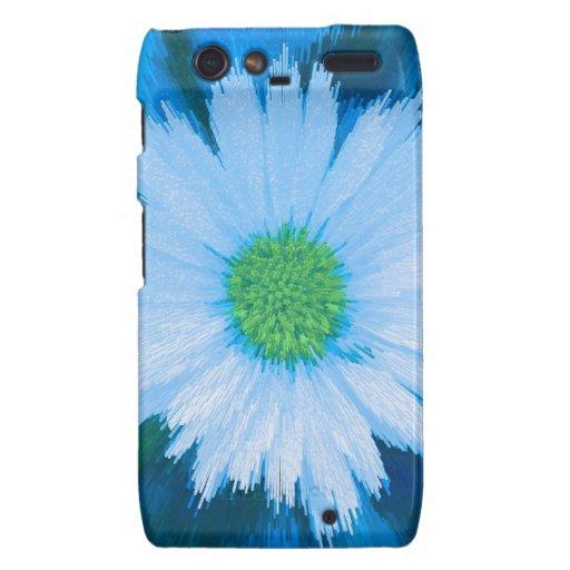 Flor de los azules claros motorola droid RAZR funda