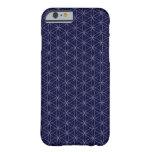 Flor de los azules marinos del caso del iPhone 6 Funda Barely There iPhone 6