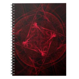 Flor de los infiernos libro de apuntes con espiral