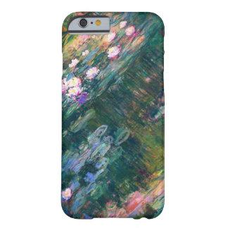 Flor de los lirios de agua que pinta el modelo funda para iPhone 6 barely there