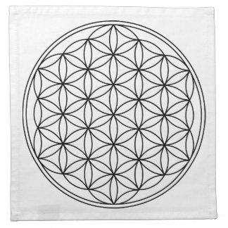Flor de los paños de la rejilla de la vida (4) servilleta imprimida