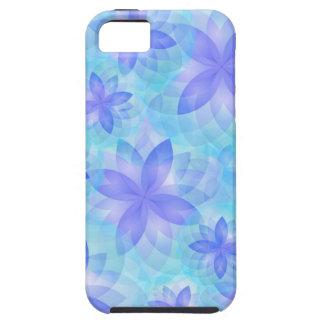 flor de loto abstracta del caso del iPhone 5 Funda Para iPhone 5 Tough