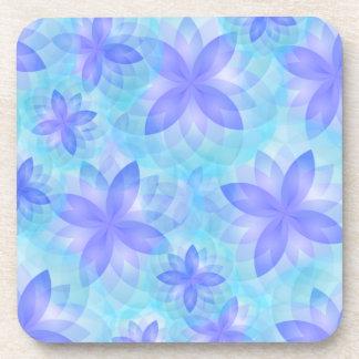 Flor de loto abstracta del práctico de costa posavasos