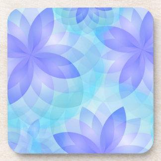 Flor de loto abstracta del práctico de costa posavasos de bebida