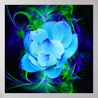 Flor de loto azul y su significado poster