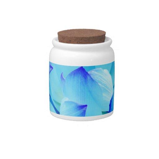 Flor de loto azul y su significado plato para caramelo