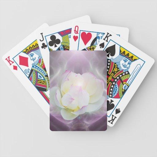 Flor de loto blanco baraja de cartas
