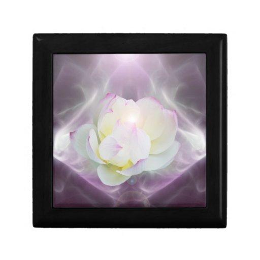 Flor de loto blanco caja de joyas