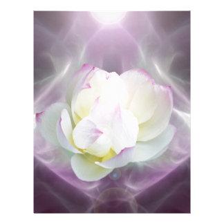 Flor de loto blanco membrete a diseño