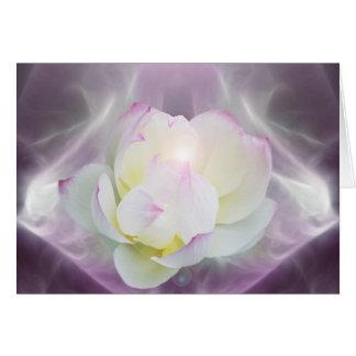 Flor de loto blanco tarjetas
