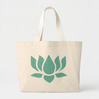 flor de loto bolsa tela grande