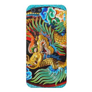 Flor de loto colorida china fresca de la pintura d iPhone 5 funda