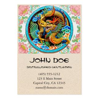 Flor de loto colorida china fresca de la pintura d plantillas de tarjeta de negocio