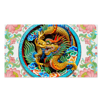 Flor de loto colorida china fresca de la pintura d tarjetas de visita