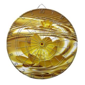 Flor de loto de oro tabla dardos