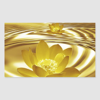Flor de loto de oro etiqueta