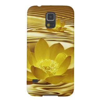 Flor de loto de oro funda de galaxy s5