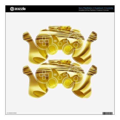 Flor de loto de oro mando PS3 calcomanías