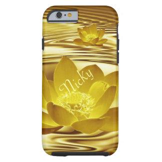 Flor de loto del oro para Nicky Funda Resistente iPhone 6