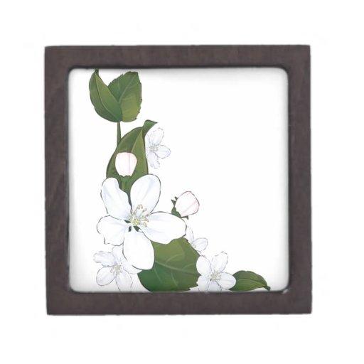 Flor de loto hermosa caja de recuerdo de calidad