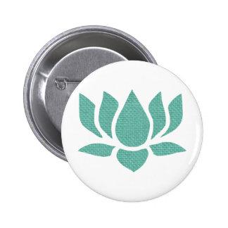 flor de loto pin redondo 5 cm