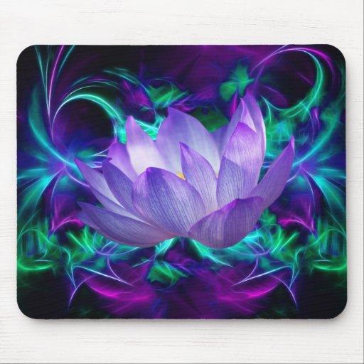 Flor de loto púrpura y su significado alfombrillas de raton