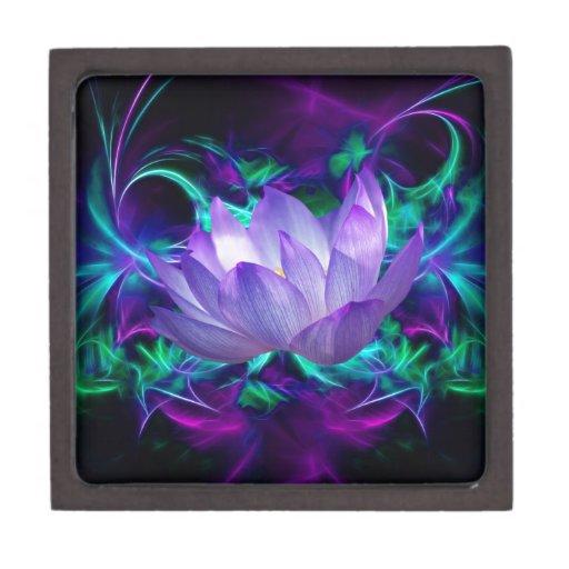 Flor de loto púrpura y su significado cajas de joyas de calidad
