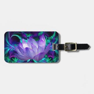 Flor de loto púrpura y su significado etiqueta de equipaje