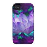 Flor de loto púrpura y su significado Case-Mate iPhone 4 carcasa