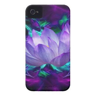 Flor de loto púrpura y su significado Case-Mate iPhone 4 protectores