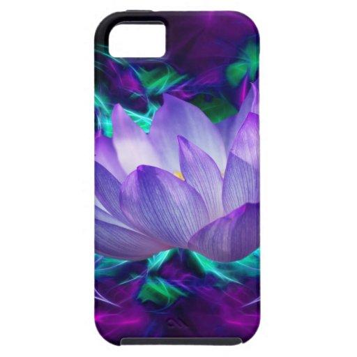 Flor de loto púrpura y su significado iPhone 5 carcasas