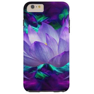 Flor de loto púrpura y su significado funda resistente iPhone 6 plus
