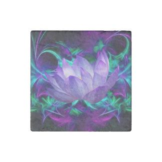 Flor de loto púrpura y su significado imán de piedra