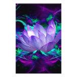 Flor de loto púrpura y su significado papelería de diseño