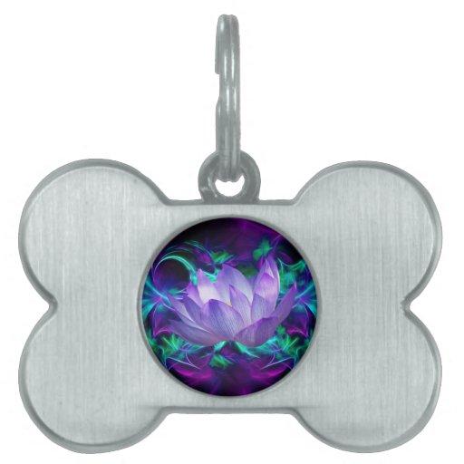 Flor de loto púrpura y su significado placas mascota
