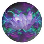 Flor de loto púrpura y su significado plato